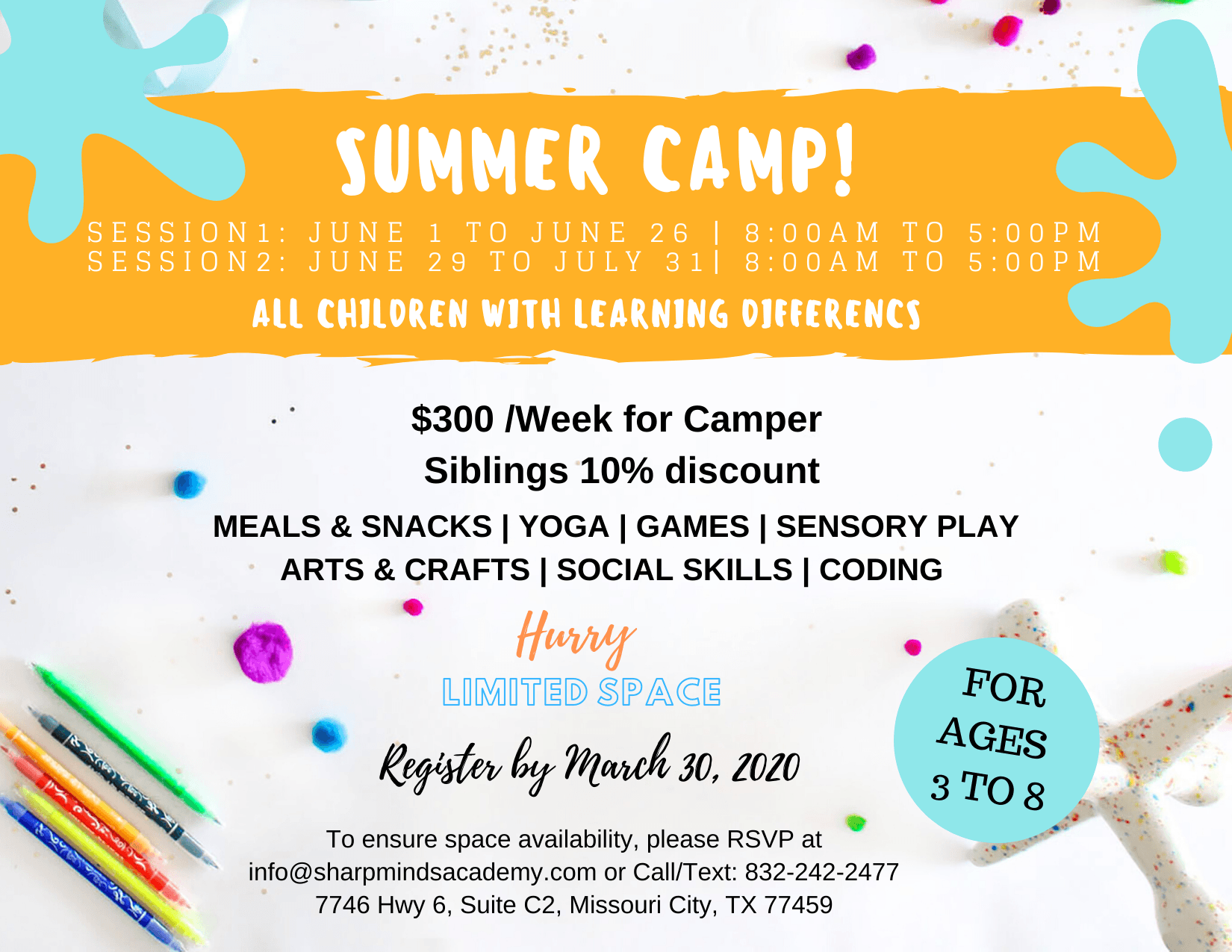 Sharp Minds Special Needs Summer Camp
