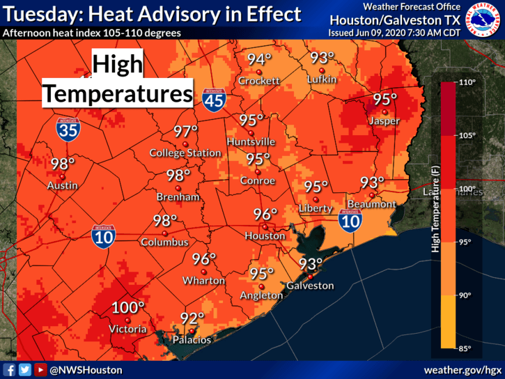 June 9 heat advisory